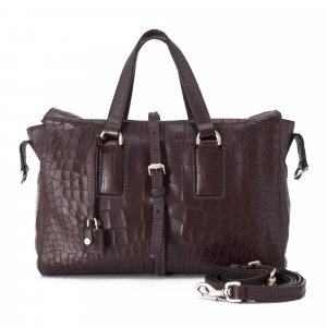 Mulberry Roxette Croc Embossed Satchel