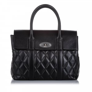 Mulberry Small Quilted Leather Bayswater Satchel