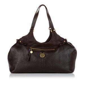 Mulberry Sac porté épaule brun foncé cuir