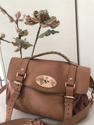 Mulberry Tasche Alexa Plaster Satchel, rosanes Leder, Roségoldene Hardware