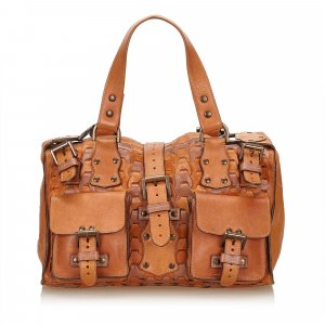 Mulberry Handbag brown leather