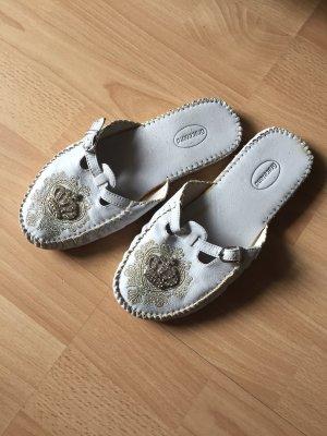 Graceland Klompen wit-zilver
