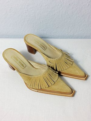 Ashley Brooke Hoge hakken sandalen veelkleurig Leer