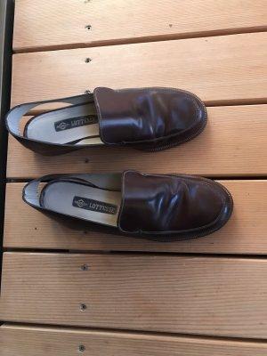 Lottusse Zapatos formales sin cordones marrón oscuro