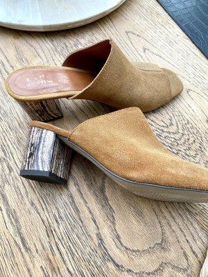 Sandalias con tacón multicolor