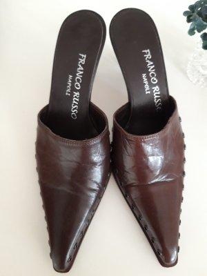 Franco Russo Heel Pantolettes dark brown