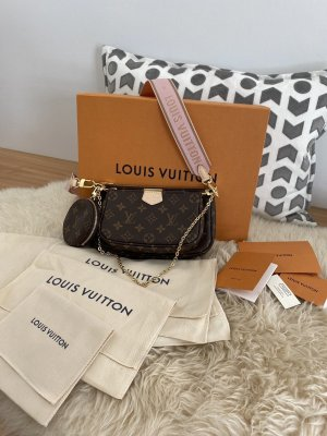 Louis Vuitton Borsa con manico color oro rosa-marrone