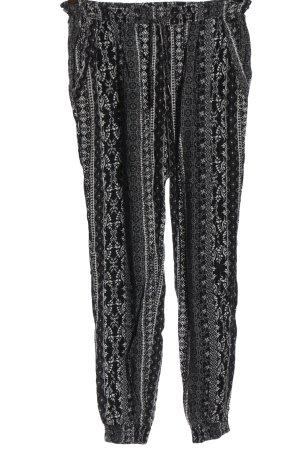 Multiblu Baggy Pants schwarz-weiß Allover-Druck Casual-Look