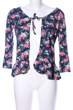 Multiblu Bolero blue-pink allover print casual look