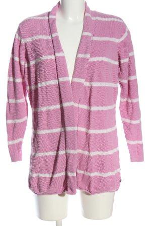Multiblu Cardigan pink-weiß Allover-Druck Casual-Look