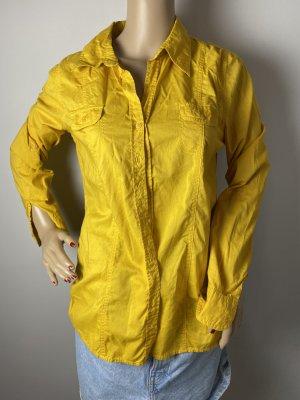 multiblu gr 36 damen hemd bluse gelb sommer herbst gebraucht oberteil
