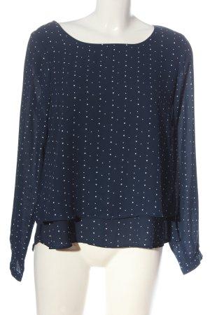 Multiblu Hemd-Bluse blau-weiß Punktemuster Elegant