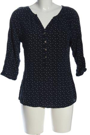 Multiblu Hemd-Bluse blau-weiß Punktemuster Casual-Look
