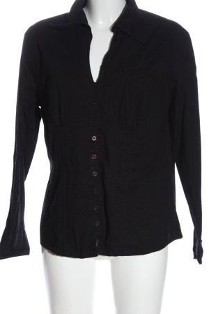 Multiblu Hemd-Bluse schwarz Casual-Look