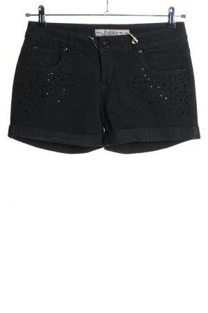 Multiblu Pantalón corto de tela vaquera negro look casual