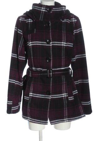 Multiblu Manteau à capuche motif à carreaux style décontracté