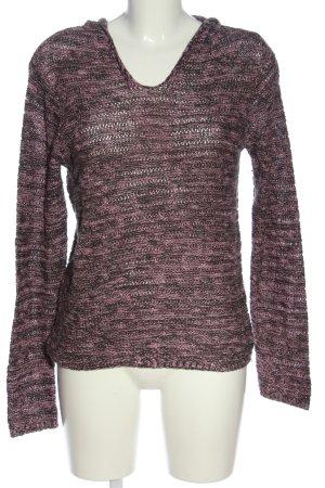 Multiblu Sweter z kapturem różowy-brązowy Melanżowy W stylu casual