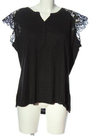 Multiblu Kurzarm-Bluse schwarz Casual-Look
