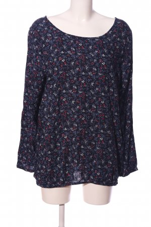 Multiblu Langarm-Bluse Blumenmuster Casual-Look