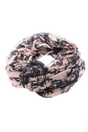 Multiblu Snood roze-zwart volledige print casual uitstraling