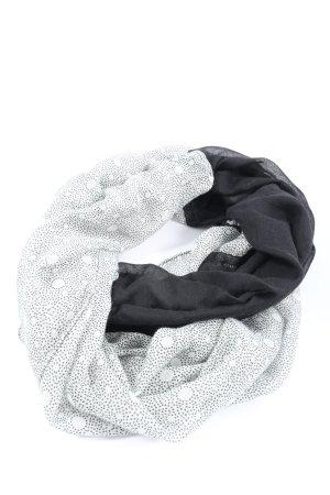 Multiblu Caperuza blanco-negro estampado a lunares look casual