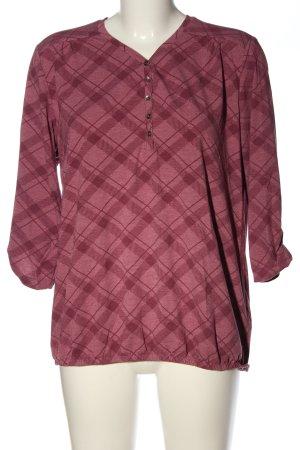 Multiblu Schlupf-Bluse pink Karomuster Casual-Look
