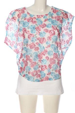 Multiblu Schlupf-Bluse Blumenmuster Casual-Look