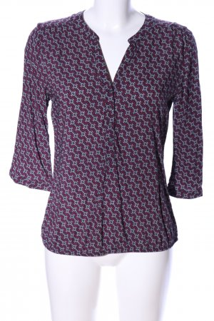 Multiblu Schlupf-Bluse rot-schwarz grafisches Muster Casual-Look