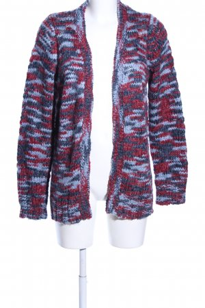 Multiblu Strick Cardigan rot-blau abstraktes Muster Casual-Look