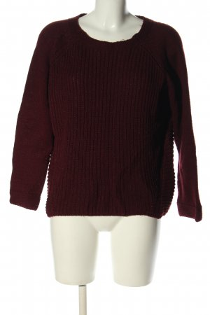 Multiblu Strickpullover rot Zopfmuster Casual-Look