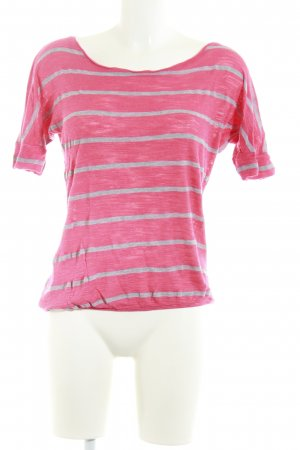 Multiblu T-Shirt rot-hellgrau Casual-Look