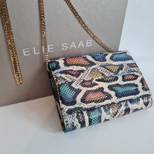 Multicolour leather Chain Wallet - Elie Saab