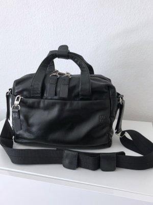 Bree Sac bowling noir-argenté cuir