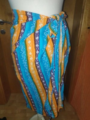 Vintage Wraparound Skirt multicolored
