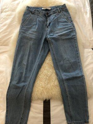 Vero Moda Jeansy z wysokim stanem niebieski neonowy Bawełna