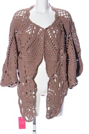 Crochet Cardigan brown casual look