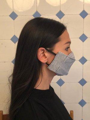 Fazzoletto da collo grigio Cotone