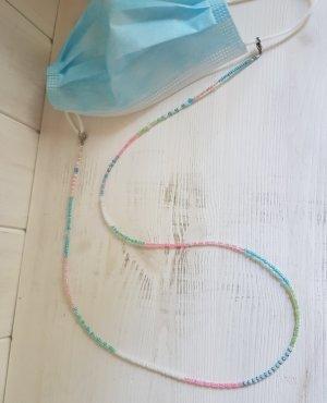 handmade Naszyjnik z perłami różowy-niebieski