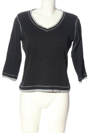 munich freedom Longsleeve black-light grey striped pattern casual look