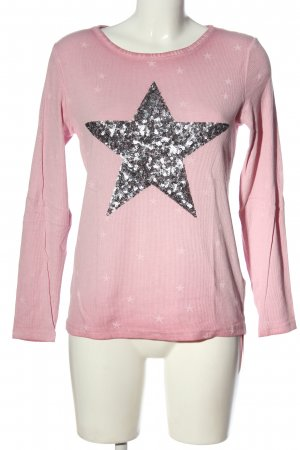 munich freedom Longsleeve pink-silver-colored allover print casual look