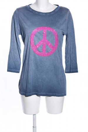 munich freedom Longsleeve blau-pink Motivdruck Casual-Look
