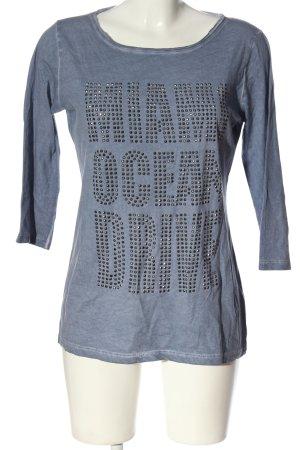munich freedom Longsleeve blue printed lettering casual look