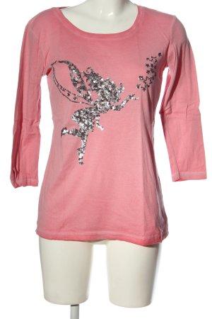 munich freedom Longsleeve pink themed print casual look