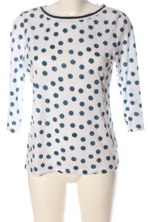 munich freedom Longsleeve white-blue spot pattern casual look