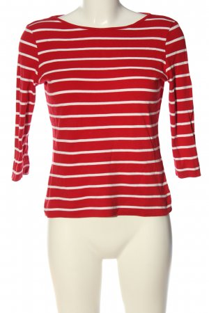munich freedom Stripe Shirt red-white allover print casual look