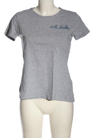 munich freedom T-Shirt light grey flecked casual look