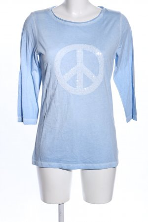 munich freedom T-Shirt blau meliert Casual-Look