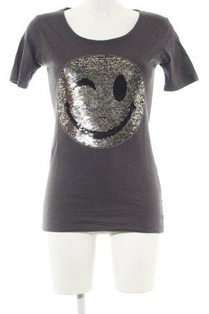 munich freedom T-Shirt hellgrau Motivdruck Casual-Look