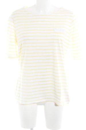munich freedom T-Shirt weiß-blassgelb Streifenmuster Casual-Look