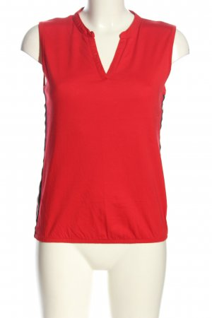 munich freedom V-hals shirt rood casual uitstraling